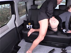 pounded IN TRAFFIC - sexy Czech honey ravages in the car