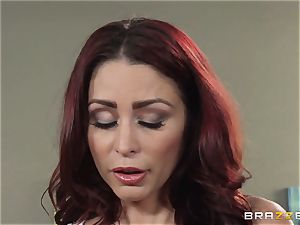 wifey Lezley Zen gets vengeance on splendid masseuse Monique Alexander