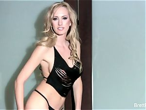 cool Brett Rossi nude against the wall
