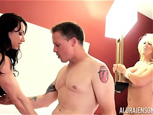 Alura Jenson and her muff slurping acquaintance Brandi May get into deep trouble