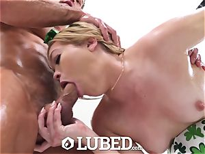 greased PRE St Patrick's Day filthy screw with facial cumshot