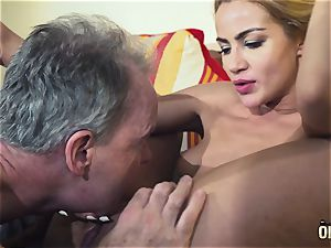 old stud dominated mind-blowing super hot babe old youthfull femdom rock hard