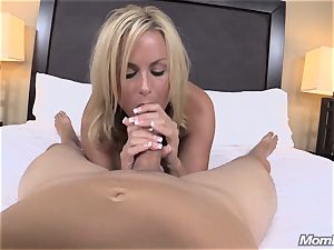 red-hot towheaded cougar internal cumshot delectation