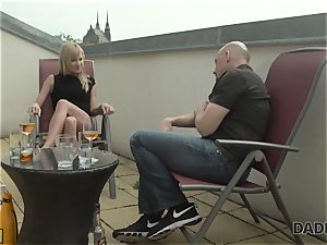 DADDY4K. trampy nubile makes enjoy with bf s aged parent behind his back