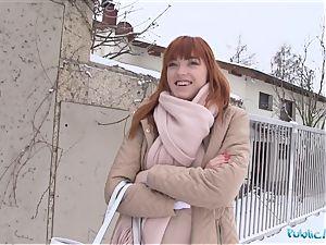 Public Agent German ginger-haired Anny Aurora loves manhood