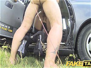 faux cab Fetish princess in ebony leather anal invasion internal cumshot