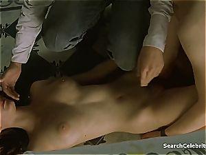 anxious Eva Green has huge globes and looks so stellar nude