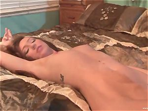 Maddy OReilly gets her gullet filled with hefty jizm