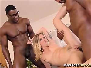 Haley Reed abases cuckold With two ebony studs