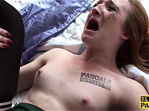 Ginger brit sub fuckslut predominated in pantyhose