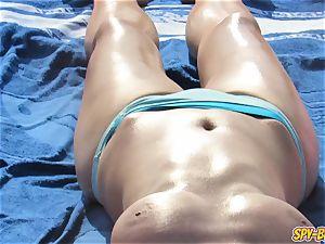 super-fucking-hot sans bra milfs meaty mammories - amateur voyeur Beach vid