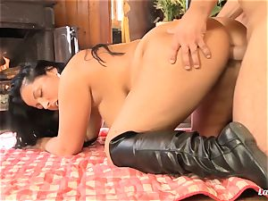 LA newcummer - curvaceous French beginner harsh boobjob and penetrate