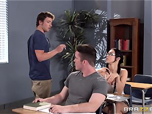huge-titted educator Ava Addams is smashed by her college girl