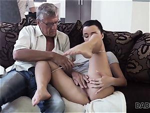 DADDY4K. parent takes part in spontaneous orgy with bombshell Erica ebony