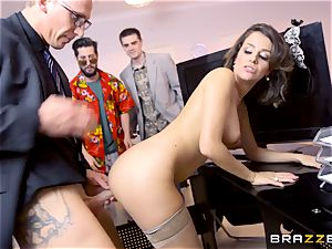 Workmates witness as Cara Saint-Germain romps in the office