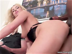blond German Swinger wife screws bbc