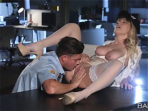 Natalia Starr fucked by the night security guard